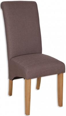 Amalfi Fabric Dining Chair - Coffee