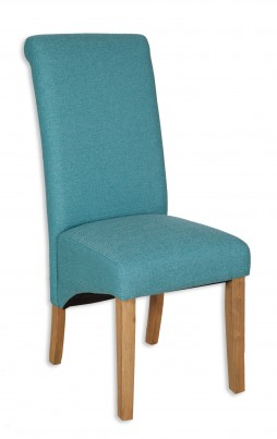 Aqua Fabric Dining Chair - Light Legs (Clearance)