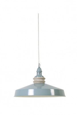 Blue Metal Round Ceiling Lamp