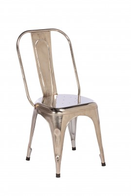Imari Industrial Metal Dining Chair (Chrome)