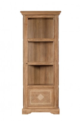 Florence Mango and Stone Tall Display Cabinet 1