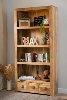 Dakota Light Mango Tall Bookcase 1