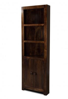 Dakota Dark Mango Corner Bookcase 1