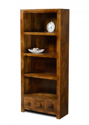 Dakota Mango 3-Drawer Bookcase 1