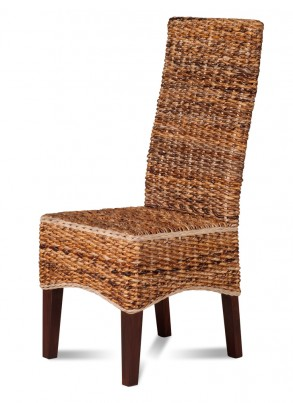 Catalina Rattan Dining Chair - Dark Leg 1