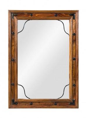 Jali Sheesham Mirror - Small 1