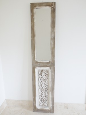 Tall Rustic Door Style Wall Mirror