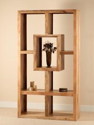 Mango Natural Tall Open Bookcase-Shelving Unit 1