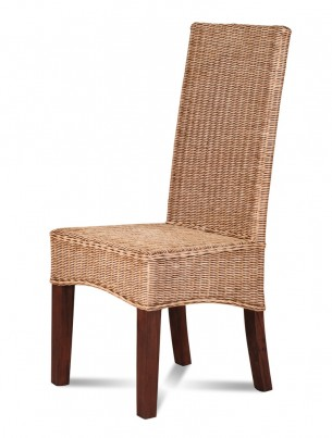 Ibis Rattan Dining Chair - Dark Leg 1