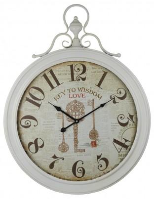 Cream Key To Wisdom Wall Clock