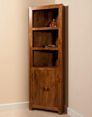 Dakota Mango Corner Bookcase 1