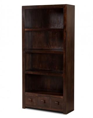 Dakota Dark Mango Tall Bookcase 1