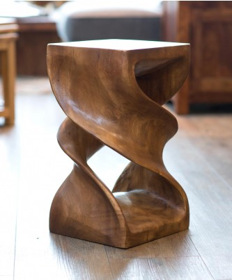 Solid Double Twist Stool - Waxed