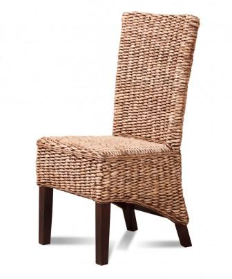 Milano Rattan Dining Chair - Dark Leg 1