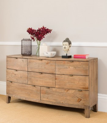 Antigua Reclaimed 8 Drawer Wide Chest 1