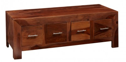 Cube Sheesham 8-Drawer Coffee Table 1