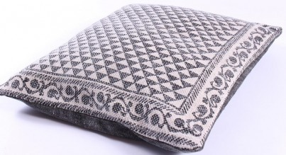 Grey Aztec Cotton Cushion 50x50cm