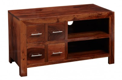 Cube Sheesham 4-Drawer TV Unit 1