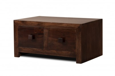 Dakota Dark Mango Small 4-Drawer Coffee Table 1