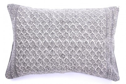 Grey Swirls Cotton Cushion 70x50cm