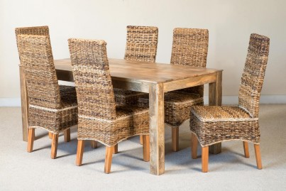 Catalina 6-Seater Light Mango Dining Set 1