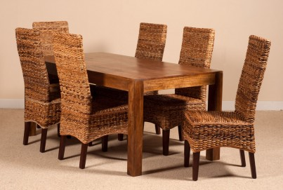 Catalina Rattan 6 Seater Dining Set - Dakota Table 1