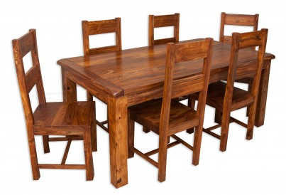 Farmhouse Sheesham 6-Seater Dining Set