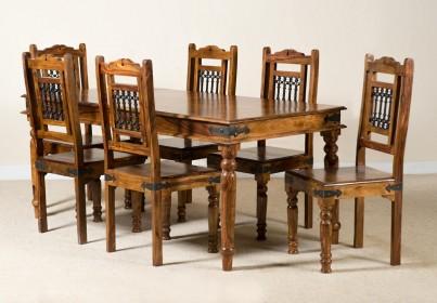 Jali Sheesham 180cm Table & 6 Chairs 1