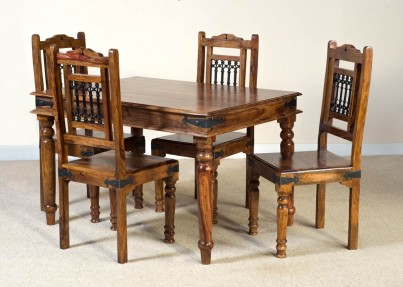 Jali Sheesham 4-Seater Dining Set 1