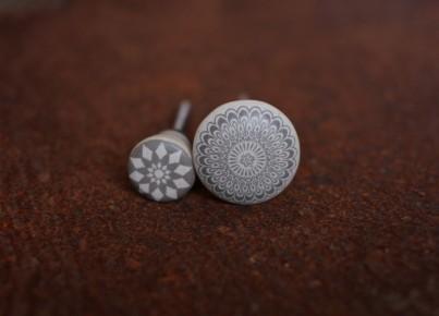 Amadi Taupe Ceramic Knob - Large 3.5cm dia 1