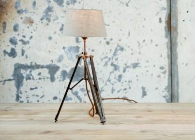 Dark Metal Tripod Table Lamp 1