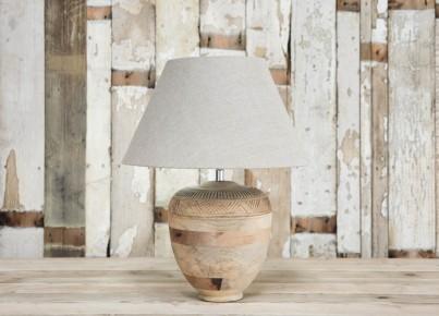 Carved Mango Wood Lamp 1