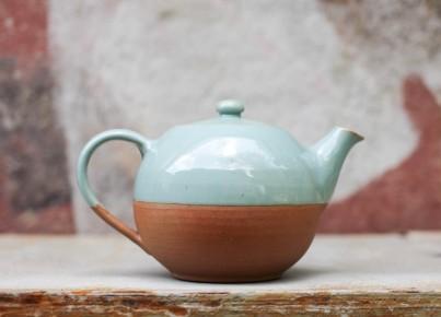 Mali Ceramic Green & Terracotta Tea Pot