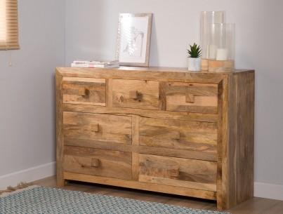 uk availability de561 5d5c4 Dakota Light Mango Large Dresser