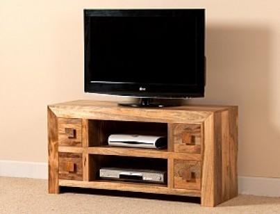 Dakota Light Mango Large TV Unit 1