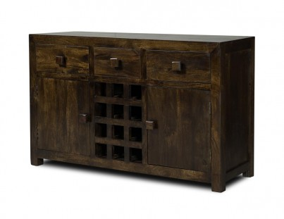 Dakota Dark Mango Large Open Sideboard 1