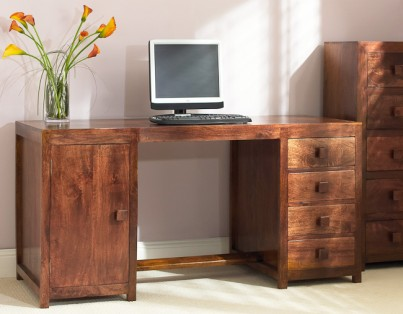 Dakota Mango Pedestal Desk 1