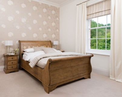 Florence Mango and Stone King Size Sleigh Bedstead 1