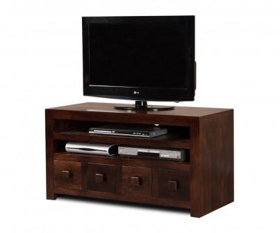 Dakota Dark Mango Large 4 Drawer TV Unit 1