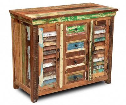 Reclaimed Wooden Small Sideboard