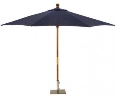 Sturdi 3x2m Wooden Parasol - Navy Blue 1