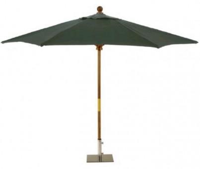 Sturdi 3x2m Wooden Parasol - Green 1