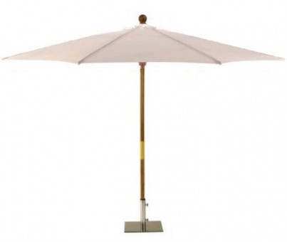 Sturdi 2.5m Wooden Parasol - Natural 1