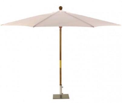 Sturdi 2m Wooden Parasol - Natural 1