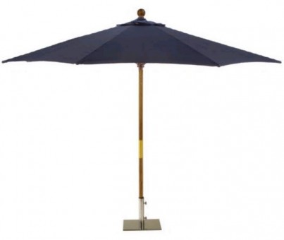 Sturdi 2.5m Wooden Parasol - Navy Blue 1