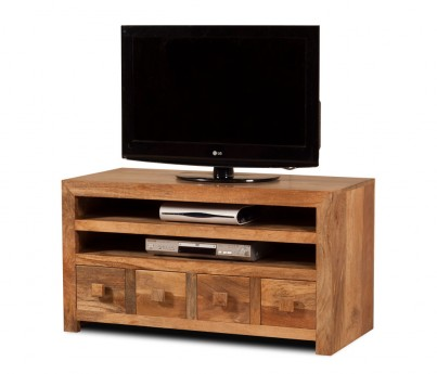 Dakota Light Mango Medium 4 Drawer TV Unit 1
