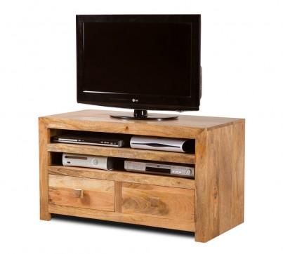Dakota Light Mango Large 2-Drawer TV Cabinet 1