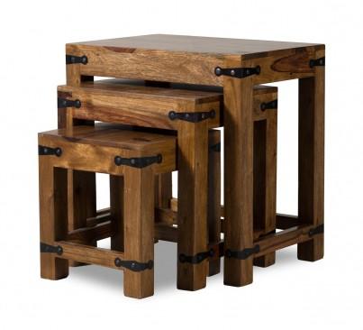 Jali Sheesham Nest of Tables 1