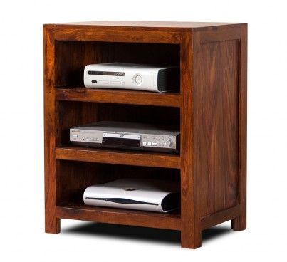Kashmir Sheesham Low Hi-Fi Shelving Unit 1