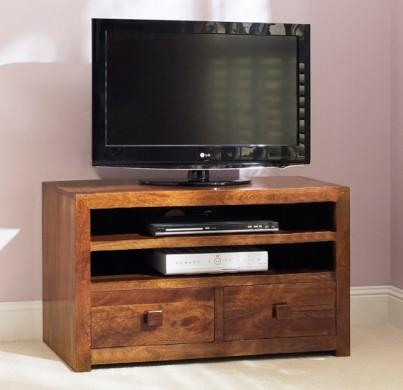 Dakota Mango Large 2 Drawer TV Unit 1